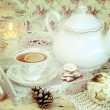 Christmas tea in retro style — Stock Photo #56085995