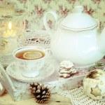 Christmas tea in retro style — Stock Photo #56085995