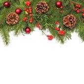 Zimní nebo vánoční pozadí — Stock fotografie