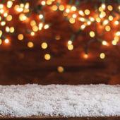 christmas bokeh lights — Stock Photo