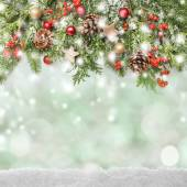 Winter or christmas background — Stockfoto