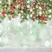 Winter or christmas background — Stock Photo