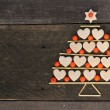Christmas tree made of cookies and rowan — Stock Photo #57298613