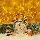 New year clock before midnight — Stock Photo