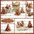 Collage homemade Gingerbread christmas tree — Stock Photo #58099943