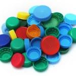 Recycled plastic bottle caps — Stock Photo #58301031