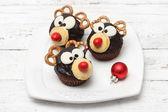 Christmas homemade muffins — Stock Photo