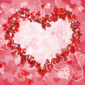 Valentine background with hearts for congratulations and invitat — Stockfoto