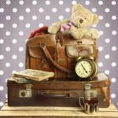 Old suitcase in retro style — Stock Photo