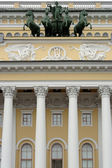 St. Petersburg, detail of the facade of Alexandria theatre — Stock Photo