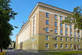 Novgorod the Great, office building — Stock Photo