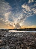 Dramatic sea sunset — Stock Photo