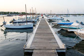 Dock with Sailboats — Stock Photo