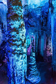 Blue stalactite — Stock Photo