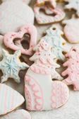 Homemade christmas cookies - gingerbread — Stock Photo