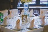 Tabellerna för bröllop — Stockfoto