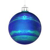 Perfect christmas ball on white background — Stock Photo