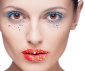 Closeup of beautiful woman eye with makeup — Stock Photo