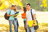 Students at park. — Stock Photo