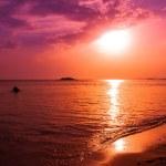 Beautiful sunset over sea — Stock Photo #68231407