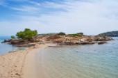 Sandbank na plaży Lagonisi — Zdjęcie stockowe