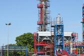 新しい石油化学プラント建設現場 — ストック写真