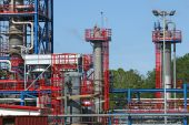 New petrochemical plant construction site — Stock Photo