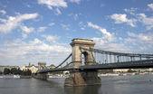 Chain bridge on Danube river Budapest — Stock Photo