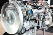 Heavy truck engine closeup — Stock Photo