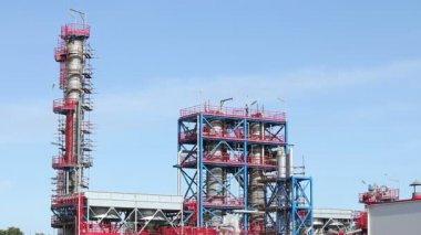 Neue petrochemische fabrik-baustelle — Stockvideo