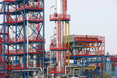 Petrochemical plant detail oil industry — Stock Photo