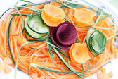 Carrot cucumber and beetroot salad — Стоковое фото