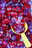 Red and purple sweet gummy closeup — ストック写真