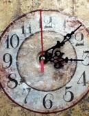 Old clock closeup vintage background — Stock Photo