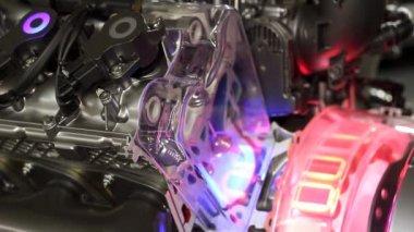 New technology car hybrid engine — Stock Video