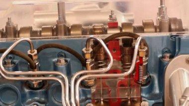 Car engine camshaft — Stock Video