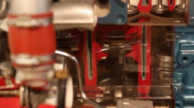 Car engine detail — Stock Video