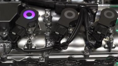 Car engine new technology — Stock Video
