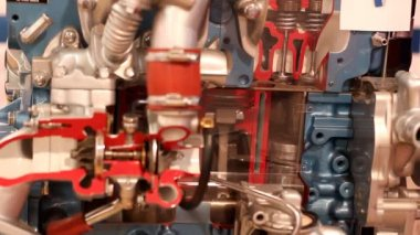 Car engine pistons and valves — Stock Video