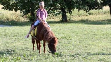 小孩骑动物图片