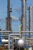 Indústria de petróleo de detalhe de planta petroquímica — Foto Stock