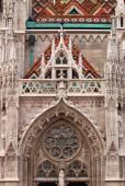 Matthias church wall Budapest Hungary — Stock Photo
