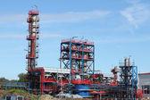 Site Web d'usine pétrochimique huile industrie construction — Photo