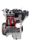 Car engine isolated on white — Stockfoto