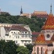 Calvinist Church and old buildings in Budapest Hungary — Stock Photo #71592189