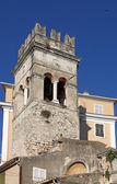 Old church tower Corfu town Greece — Foto de Stock