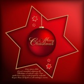Christmas Card vector template — Vetorial Stock
