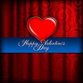 Sevgililer günü kartı - arka plan şablonu — Stok Vektör