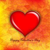 バレンタインの日カード - 背景テンプレート — ストックベクタ