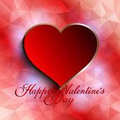 Valentines Day background - heart on abstract background — Stockvektor